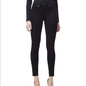 Good American Black High Rise Jeans Goodleg Skinny